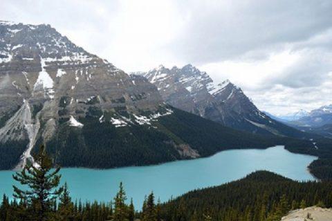 Glacier mountains Montana