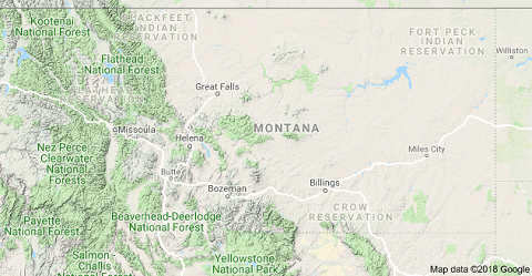 Montana mountain map