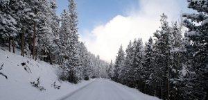 Montana snow highway