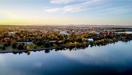 Great Falls MT Missouri River town