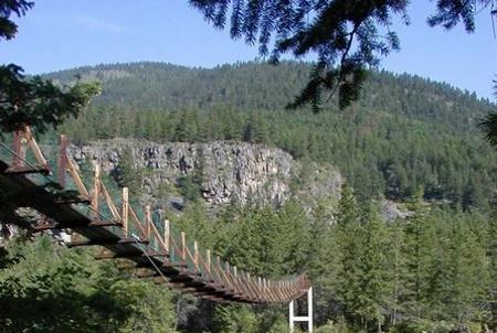 Swingging bridge Libby MT