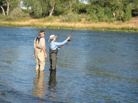 Fly-fishing lesson