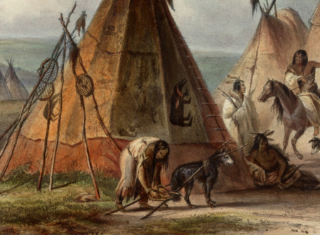Karl Bodmer dog with travois