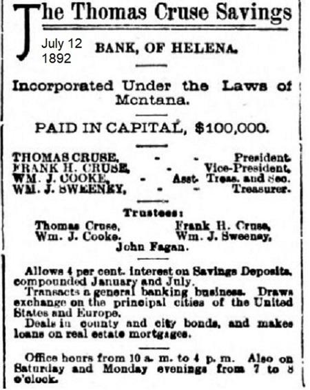 Cruse Bank Helena