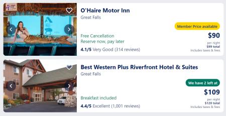 Great Falls hotels